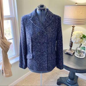 Jones New York Tweed Pean Coat Size 14